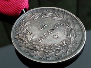 WWII Solid silver Medal for merit Boris III of Bulgaria original box ribbon