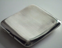 Art Deco 1918 sterling silver gold plated cigarette case Birmingham Antique gift