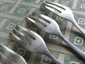 Art Deco set of six fruits fork silver plated top quality mark: WMF100