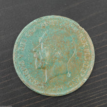 Load image into Gallery viewer, Vintage 1935 coin One penny George V Great Britain Bronze with patina nice gift
