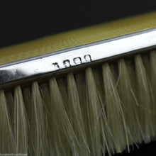 Load image into Gallery viewer, Vintage 1927 sterling silver yellow guilloche enamel brush Birmingham British