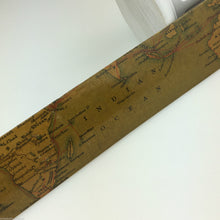 Load image into Gallery viewer, Antique wood page turner / letter opener 1898 with map The Eastern Telegraph Com