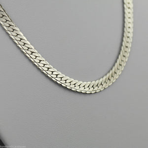 Vintage 6 mm sterling silver snake Necklace neck chain