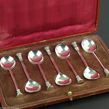 Load image into Gallery viewer, Antique 1916 set solid silver spoons for crushing sugar from Thomas Bradbury