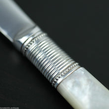 Load image into Gallery viewer, Antique silver plate tale knife mother of pearl Nacre handle EPNS British Empire