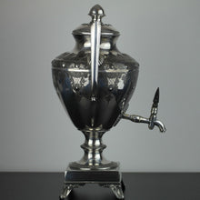Load image into Gallery viewer, Victorian silver plated hot water urn tea samovar Cooper Brothers Sheffield