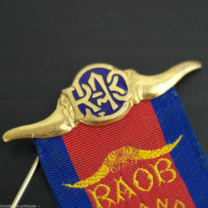 Vintage 1972 solid silver gold plated medal Birmingham PRIMO RAOB Wyvern lodge