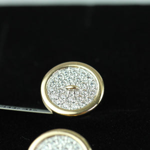 Sokolov 14ct gold cufflinks with 48 Cubic Zirconia
