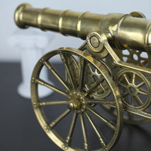 Load image into Gallery viewer, Vintage model Antique cannon brass large statue with wheels British Empire