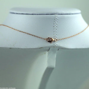 Gold Over sterling silver Clear stone pendant on chain STELLA PICCIOTTO VERONA