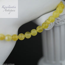 Load image into Gallery viewer, Genuine Baltic Amber beads 9mm Islam Tesbih Rosary White egg yolk