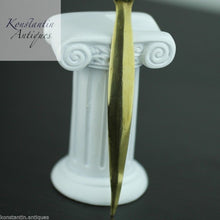 Load image into Gallery viewer, Vintage solid brass letter opener Knight with sword on the top