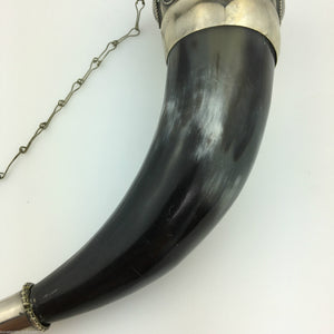 Vintage Caucasian Drinking Horn Cup for Wine Vodka Cognac party gift