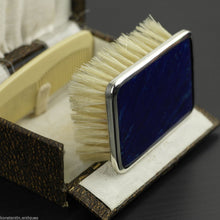 Antique 1927 sterling silver lapis lazuli brush and comb Birmingham