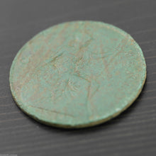 Antique 1914 coin One penny George V Great Britain Bronze with patina nice gift