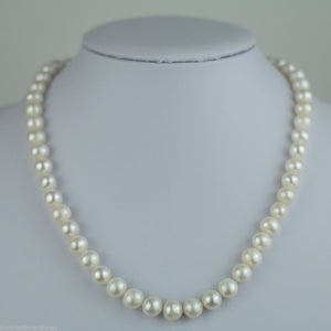 Freshwater Pearls necklace bead lock sterling silver