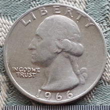 Load image into Gallery viewer, Vintage 1966 Washington Quarter ¼ Dollar 200th Birthday of George Washington