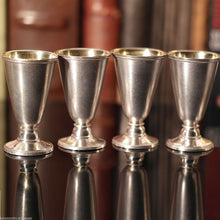 Vintage Russian solid silver gild Cups set of 4 Liqueur Vodka РЮ5 875 USSR gift