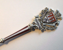 Load image into Gallery viewer, German enamel solid silver spoon Rathaus Hamburg coat of arms 800 cross