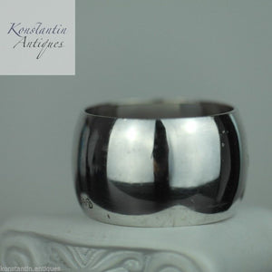 Antique solid silver napkin ring Norway David Andersen 830 S inscription LORNA