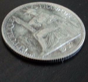 Vintage 1937 silver coin 0.10 Dollar G. General Jules Brévié of French Indochina