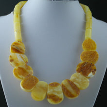 Load image into Gallery viewer, Elegant German Genuine Amber half beads necklace