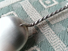 Load image into Gallery viewer, Antique 19thC sterling silver spoon twist 1898 Birmingham Devenport