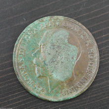 Load image into Gallery viewer, Antique 1914 bronze coin One penny George V British Empire with patina