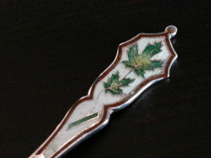 Antique Enamel Sterling silver spoon Montreal Canada