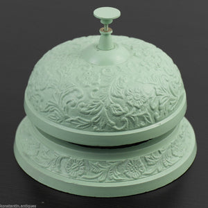 Vintage style cast iron reception desk ornamented top bell