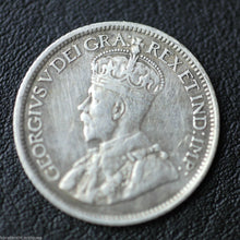 Antique 1914 silver coin 10 cents King George V of British Empire Canada 20thC