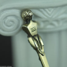 Load image into Gallery viewer, Antique 1770 gild silver 20 Kreuzer coin spoon Theresia Austrian Empire 800