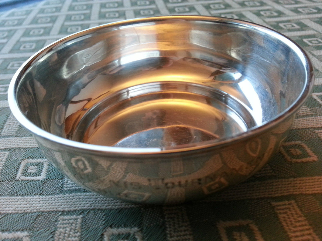 Antique 1904 sterling silver bowl British Empire Chester Robert Pringle and Sons