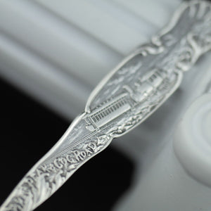 Antique sterling silver spoon Manitou Colorado USA ornamented picture