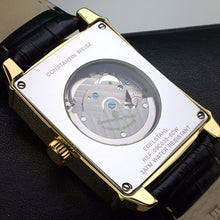 Load image into Gallery viewer, Automatic 20 jewels gild wrist watch Constantin Weisz Black Mother of Pearl dial