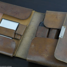 Load image into Gallery viewer, Antique 1911 original leather soldier hygiene case