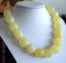 Load image into Gallery viewer, Stunning German 130.8 g Baltic Amber matte beads necklace