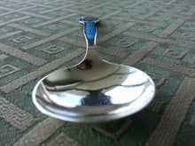 Load image into Gallery viewer, Vintage Sterling silver guilloche enamel spoon Marthinsen Norway Gjovik