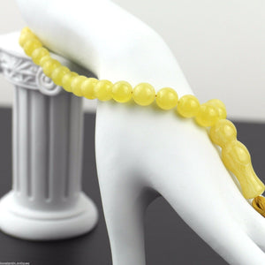 Genuine Baltic Amber beads 9mm Islam Tasbih Rosary White Cloudy yolk