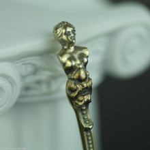 Load image into Gallery viewer, Antique 1765 gild silver 20 Kreuzer coin spoon Franc Austrian Empire 800 German