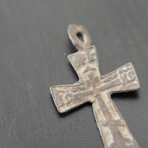 Antique solid cross Russian Empire Orthodox old Believers great positive gift