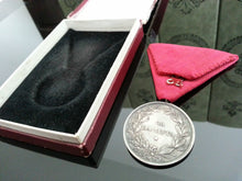 Load image into Gallery viewer, WWII Solid silver Medal for merit Boris III of Bulgaria original box ribbon