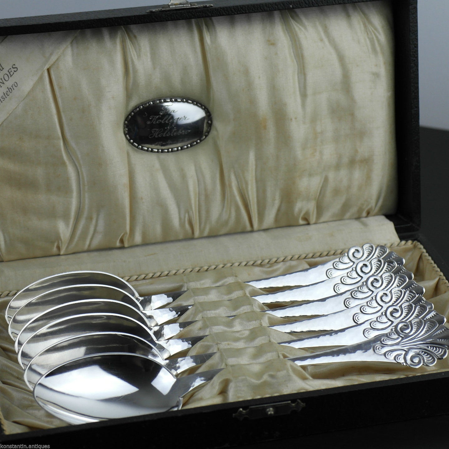 Antique Danish Sterling silver 1933 set of six spoons