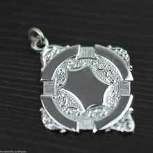 Load image into Gallery viewer, Vintage silver plate medal charm