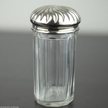 Load image into Gallery viewer, Antique 1900 vanity cut glass bottle box silver plated topper jar British Empire