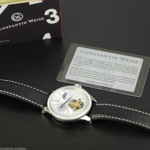 Constantin Weisz 22 jewels Open heart wrist watch automatic Day Night