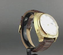 Load and play video in Gallery viewer, Constantin Weisz Gent's automatic wrist watch with Moon phases and encrusted bezel