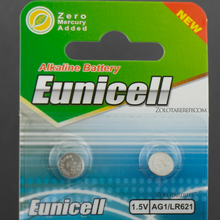 Load image into Gallery viewer, Eunicell two batteries for Watch, Key, Toys, Calculator, Clock, Scale or any other electronic device