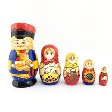 Load image into Gallery viewer, Original Russian doll Matryoshka five in one