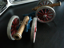 Load image into Gallery viewer, Vintage two models Antique cannons statues George Rex British Empire